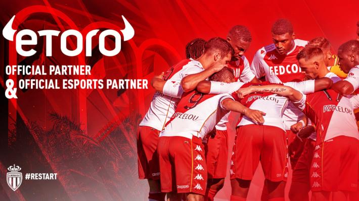 شركة eToro توسع نطاق تعاونها مع AS Monaco وتصبح الشريك الرئيسي للنادي